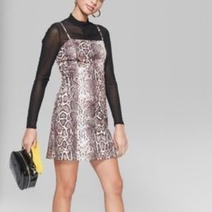 Wild Fable snake python print mini dress S